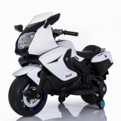 Электромотоцикл BMW K1200GT 12V - XMX316 белый (колеса резина, кресло кожа, музыка, ручка газа)