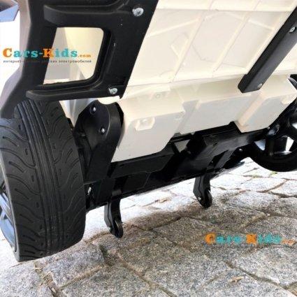 Электромобиль Lykan Hypersport QLS 5188 4WD белый (полный привод, колеса резина, кресло кожа, пульт, музыка)