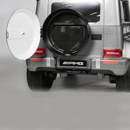Электромобиль Mercedes Benz G63 AMG BBH-0003 белый (колеса резина, кресло кожа, пульт, музыка)